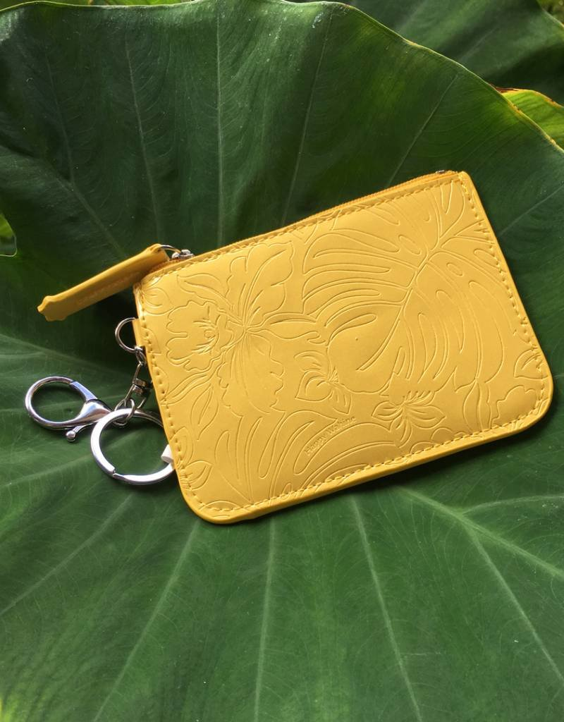Card Case May Monstera Orchid Yellow