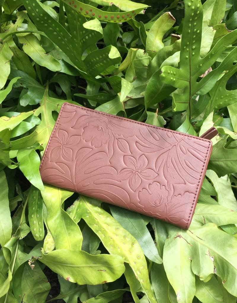 Wallet Teyla Monstera Orchid Brown Emb
