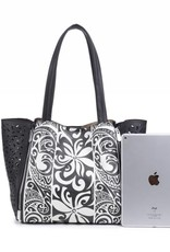 Handbag Amy Tapa Tiare Black Large