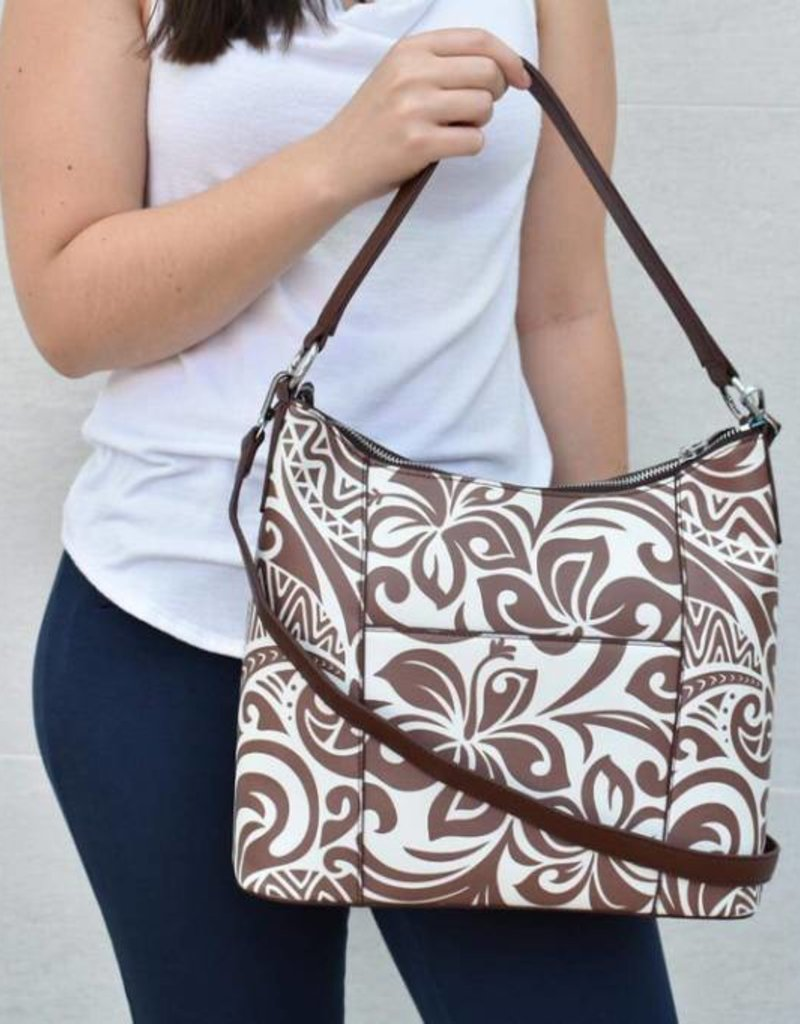 Hobo Bag Sara Hibiscus Brown