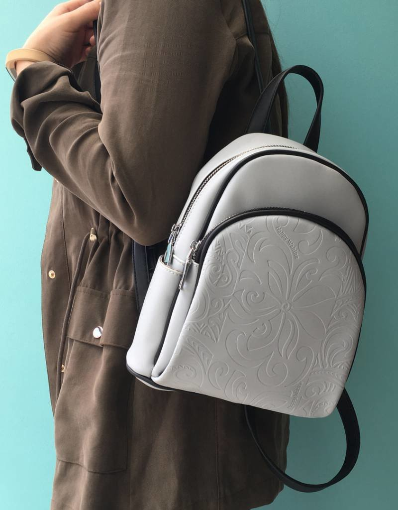 Backpack Lucy Tapa Tiare Embossed Grey
