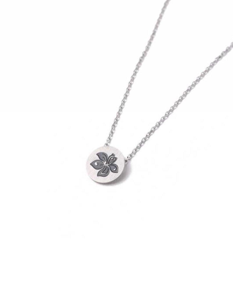 Necklace Aloha Hibiscus Silver