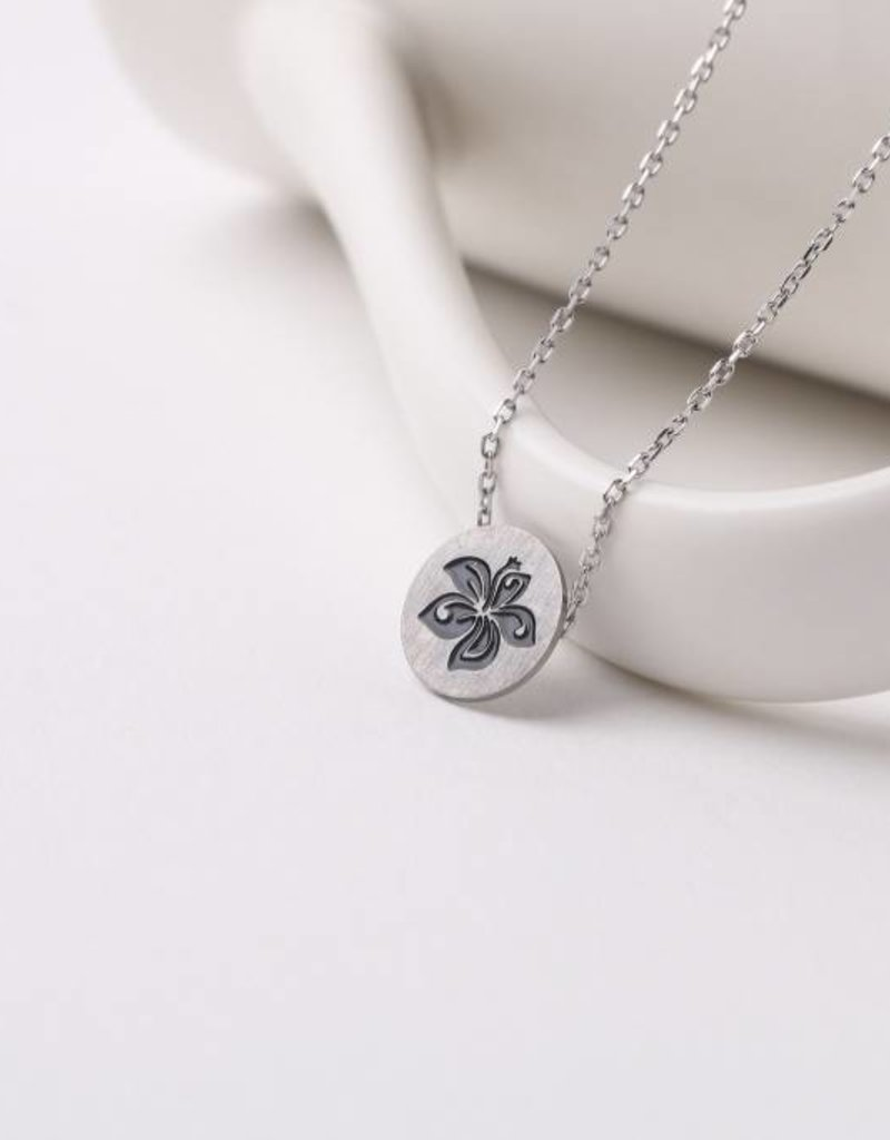 Necklace Aloha Hibiscus Silver