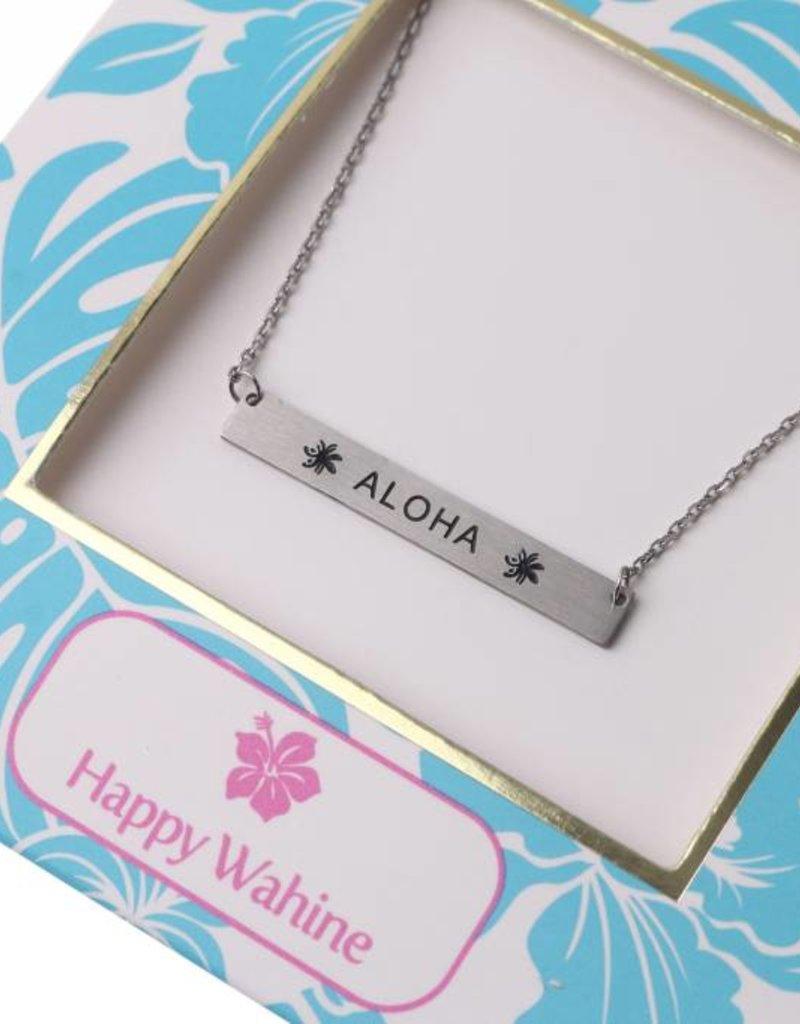 Necklace Aloha Bar Silver
