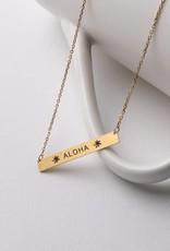 Necklace Aloha Bar Gold