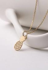 Necklace Aloha Pineapple Puka Gold