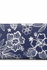 Wallet Kaylee Hibiscus Blossom Blue