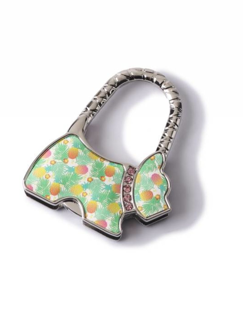 Purse Hook Dog Spring Pineapple Beige