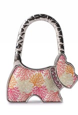 Purse Hook Dog Coral Beige