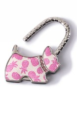 Purse Hook Dog Tapa Pineapple Pink