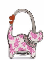 Purse Hook Cat Tapa Pineapple Pink
