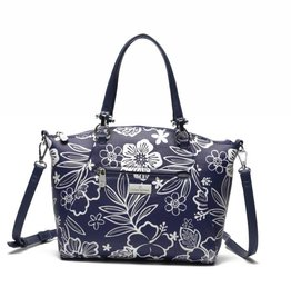 Tote Hannah Hibiscus Blossom Blue