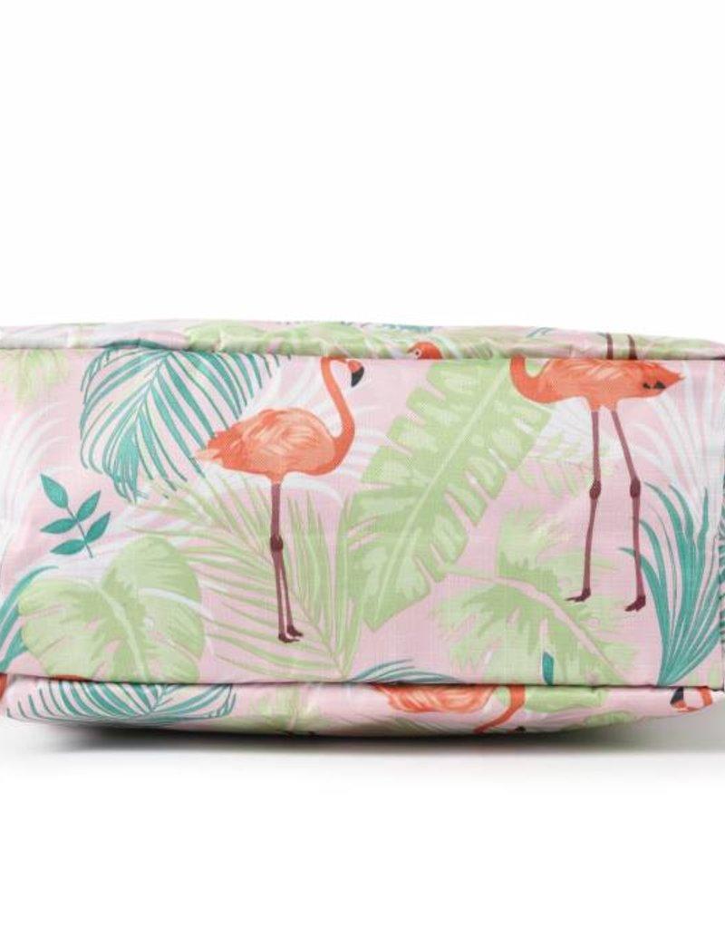 Nylon Amber Flamingo Monstera Pink