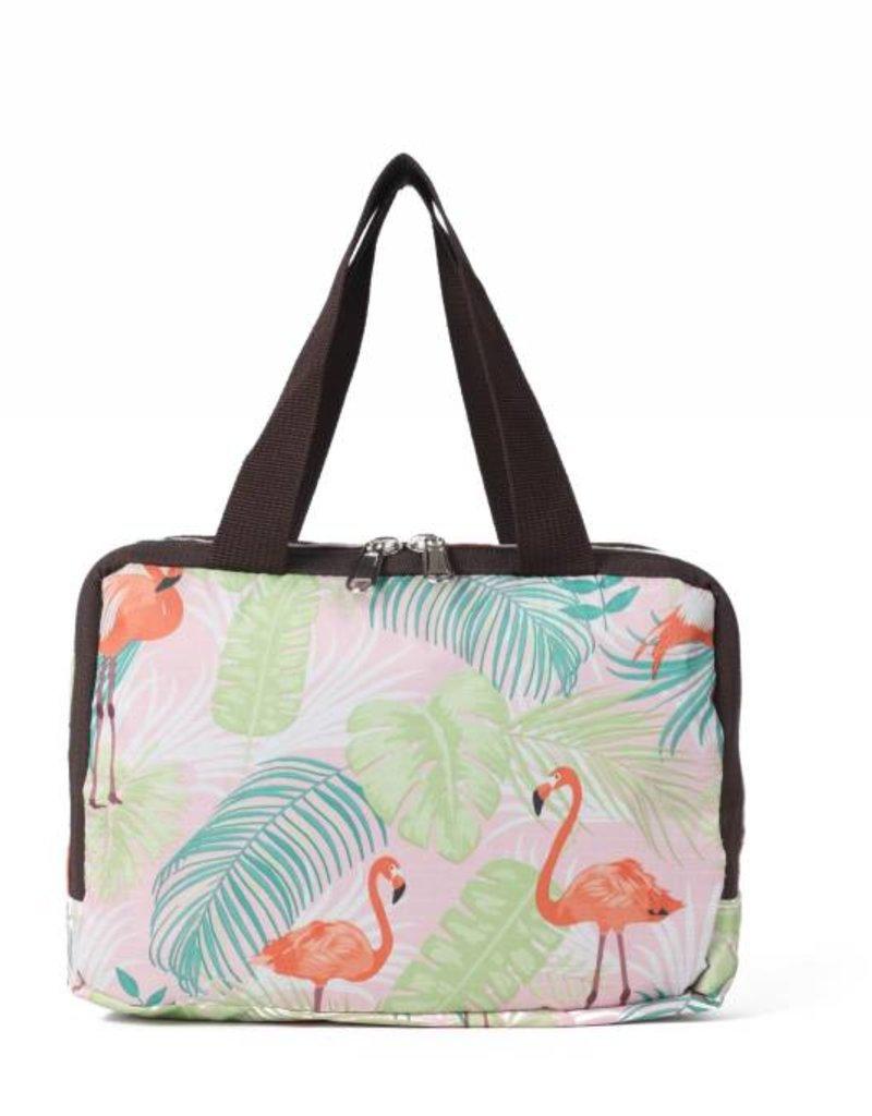 Nylon Song Flamingo Monstera Pink