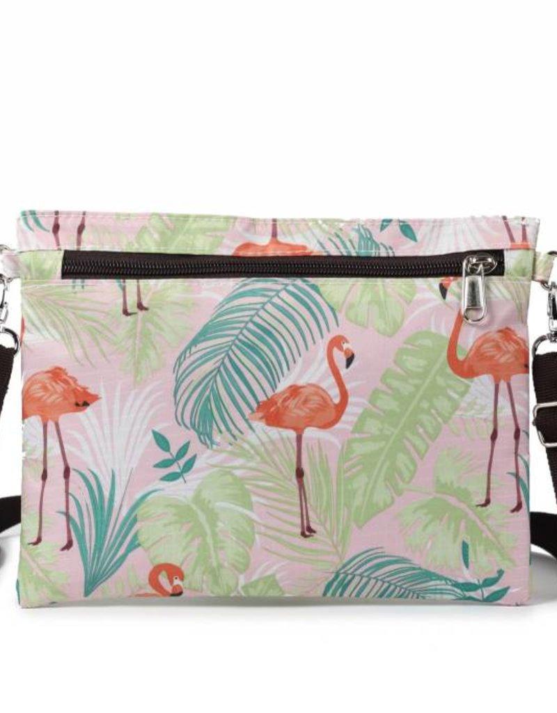 Nylon Jonelle Flamingo Monstera Pink