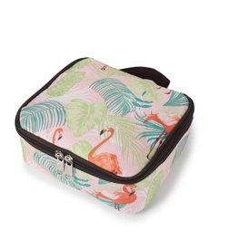 Nylon Leah Small Flamingo Monstera Pink
