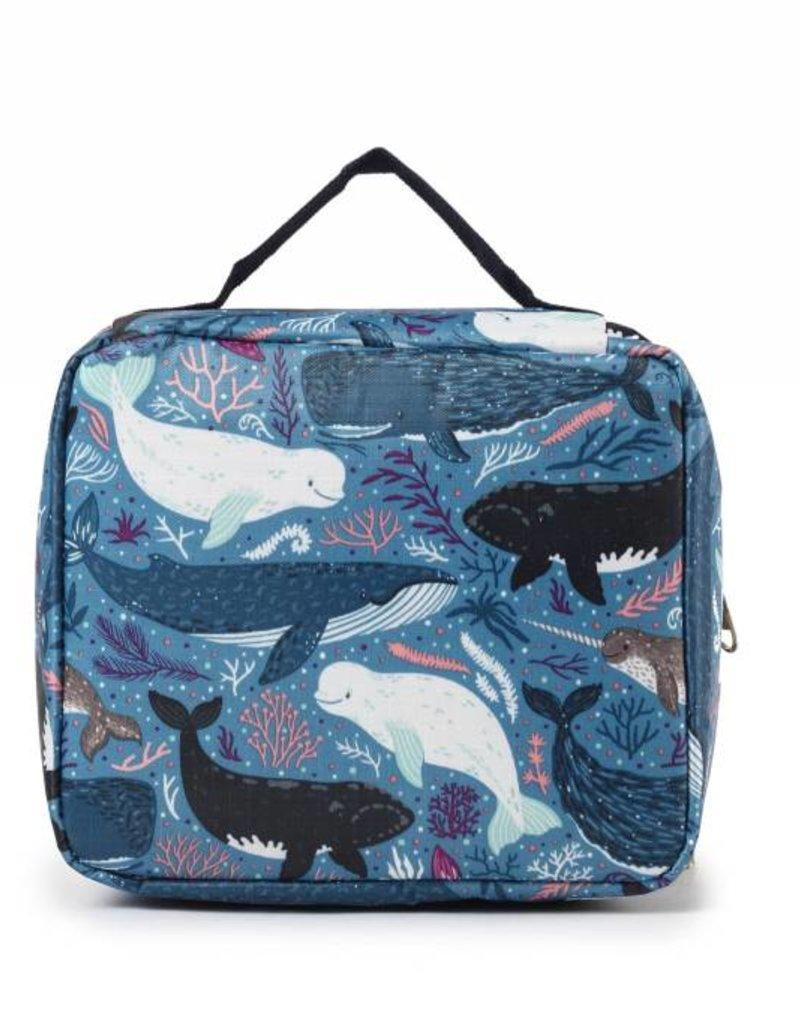 Nylon Leah Large Whales Blue