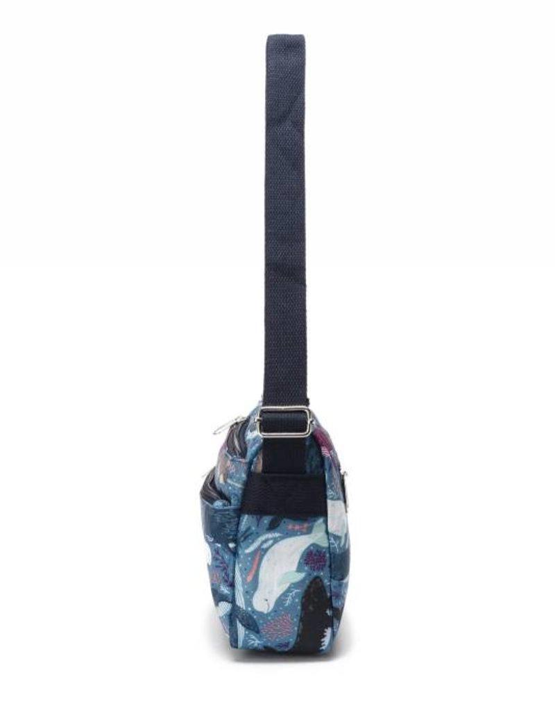 Nylon Kayla Whales Blue