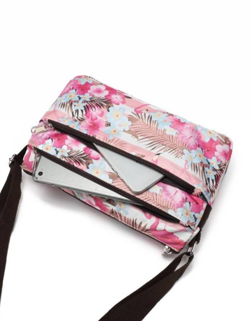 Nylon Kayla Flamingo Stripes Pink
