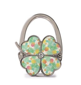 Purse Hook Clover Spring Pineapple Beige