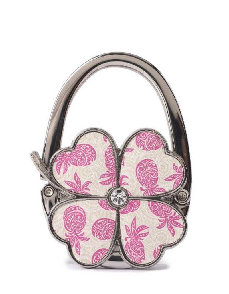 Purse Hook Clover Tapa Pineapple Pink