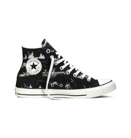 CONVERSE CHUCK TAYLOR HIGH BLACK PARCHMENT FISHING C15WOOD-149472C