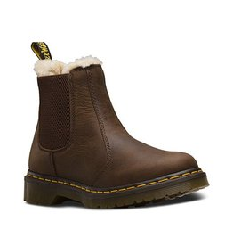 DR. MARTENS FUR LINED LEONORE WYOMING DARK BROWN BURNISHED WYOMING E15DB-R21069201