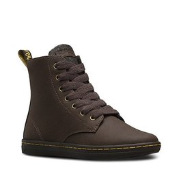 DR. MARTENS LEYTON DARK BROWN+DARK GREY ALBERTA SPLIT+POLY FELT 729BR-R21517201