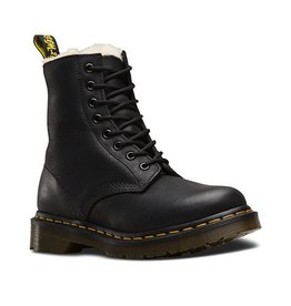 DR. MARTENS FUR LINED SERENA BLACK BURNISHED WYOMING 815BFUR-R21797001