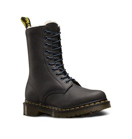 DR. MARTENS FUR LINED 1490 GRAPHITE GREY WILDHORSE 1000CFUR-R21590070