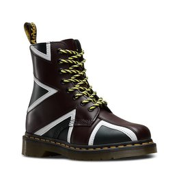 DR. MARTENS PASCAL BRIT NAVY OXBLOOD WHITE SMOOTH PU 815NUK-R22774410