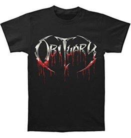 Obituary Bloody Logo Shirt Large