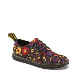 DR. MARTENS KOREY JUNIORS BLACK GARDEN CANVAS Y329JFL-R16223002