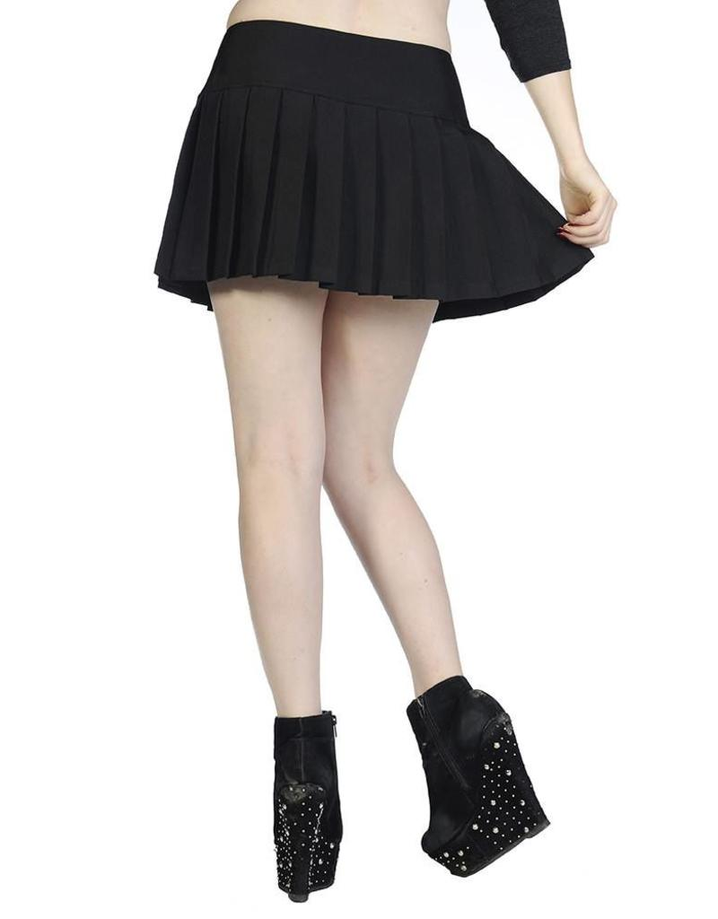 BANNED - Plain Black Mini Skirt