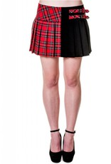 BANNED - Half Red Checkered Skirt