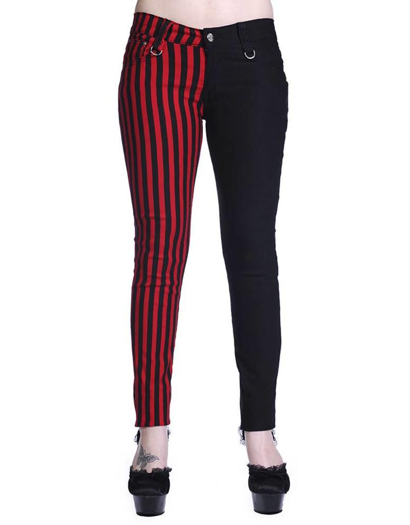BANNED - Half Black/Striped Red Pants