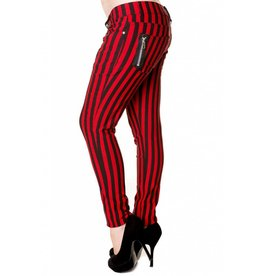 BANNED - Striped Black/Red Pants