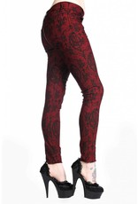 BANNED BANNED - Cross Cameo Burgundy Trousers