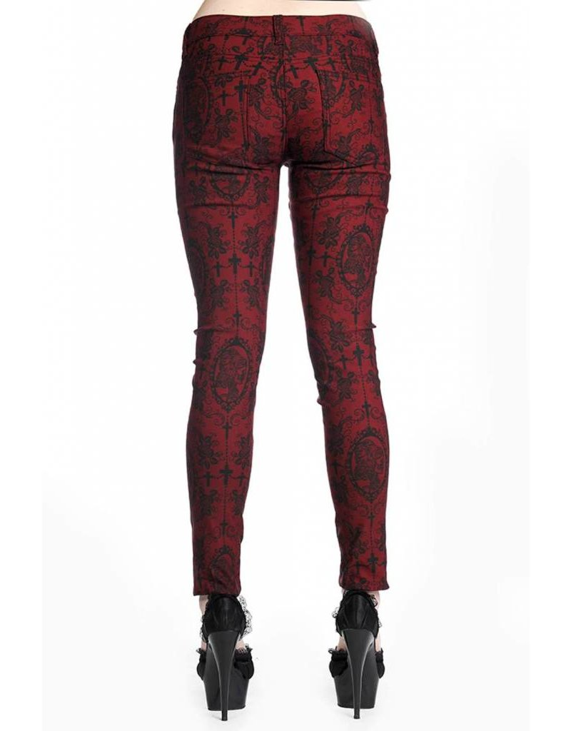 BANNED - Cross Cameo Burgundy Trousers