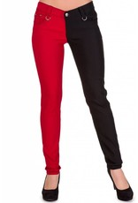 BANNED - Night After Night Half Black/Red Pants