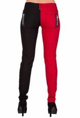 BANNED BANNED - Night After Night Half Black/Red Pants