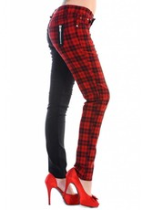 BANNED BANNED - Half Black/Checkered Red Pants