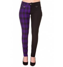 BANNED - Half Checkered Purple Pants
