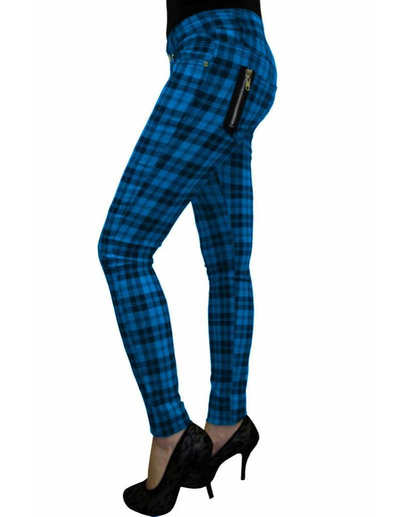 BANNED BANNED - Checkered Blue Pants