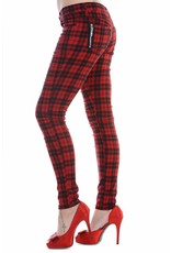 BANNED BANNED - Red Checkered Pants