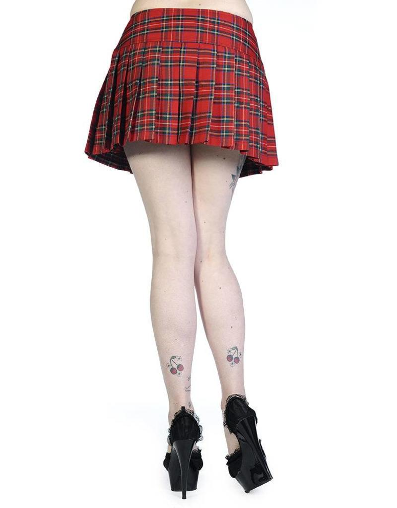 BANNED - Red Tartan Mini Skirt
