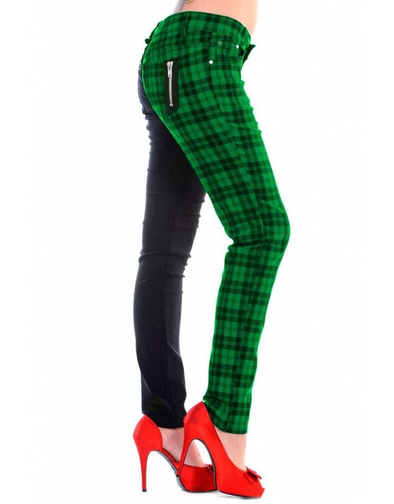 BANNED - Half Checkered Green Pant