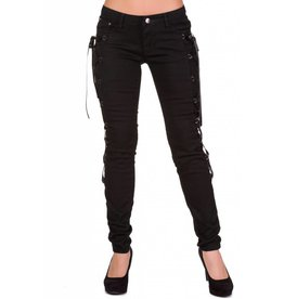 BANNED BANNED - Feel Real Black Laced Trousers
