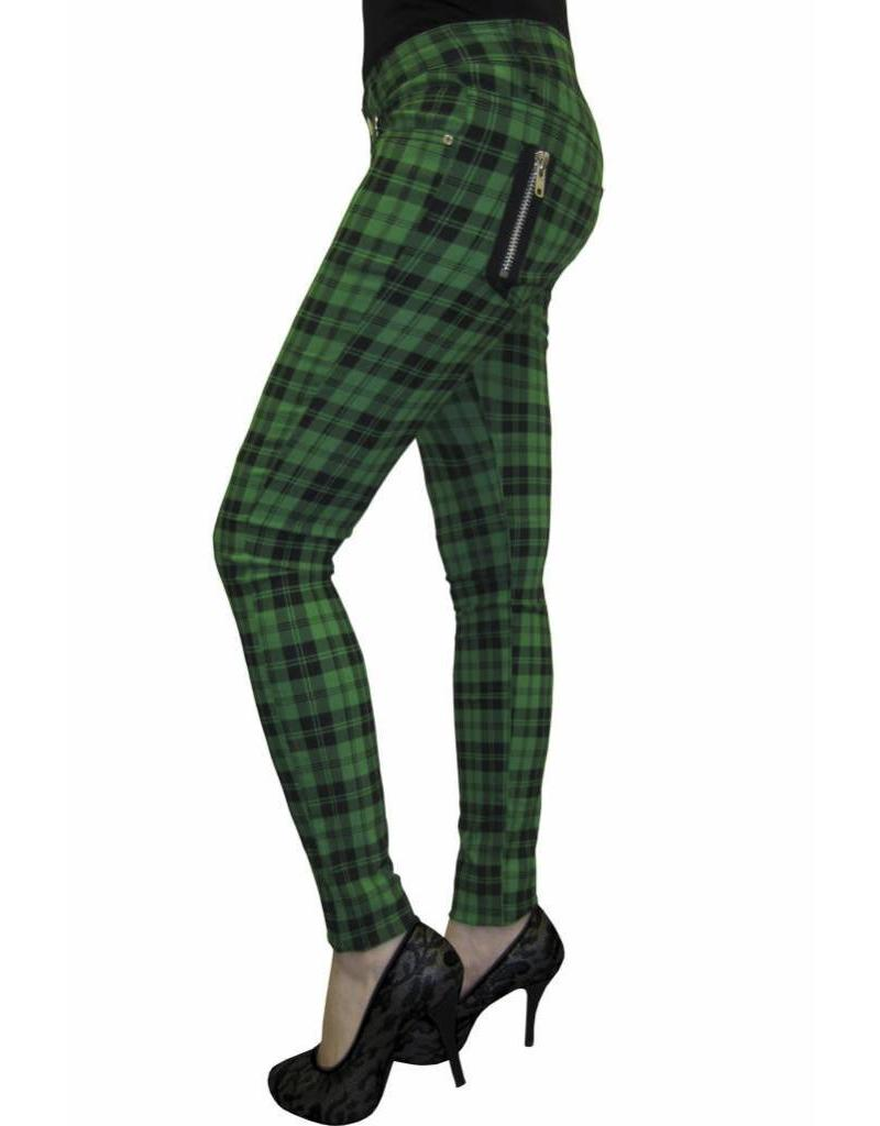 BANNED BANNED - Green Checkered Pants