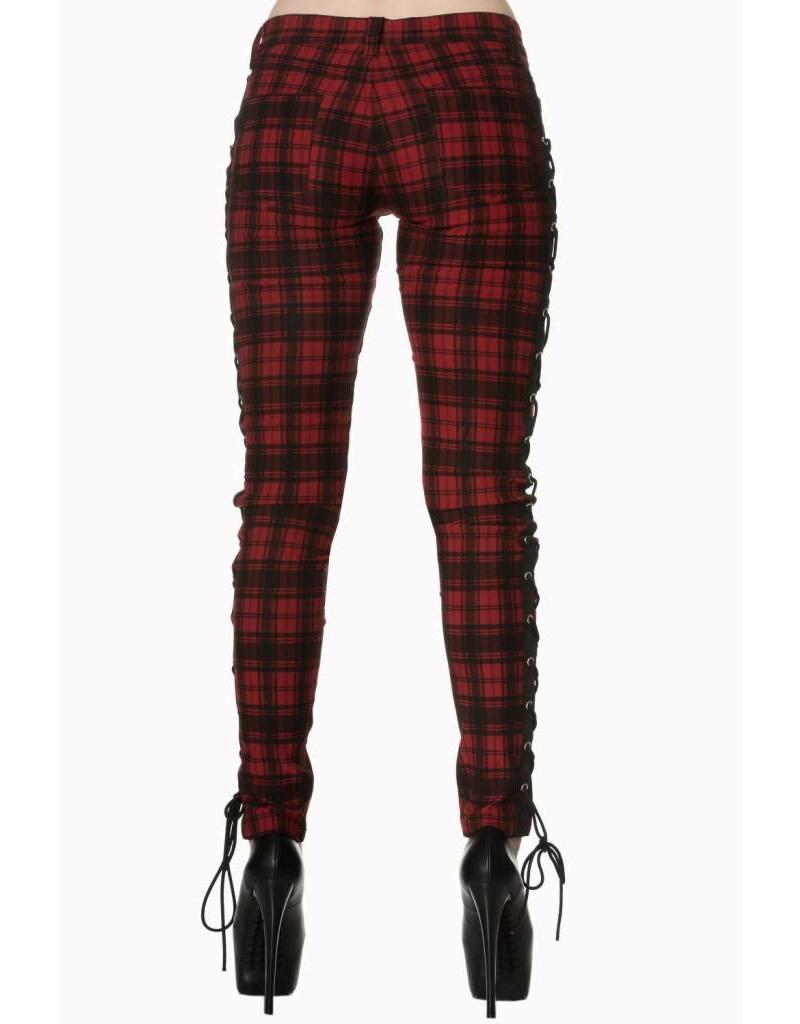 BANNED BANNED - Escaping Darkness Tartan Skinny Trouser